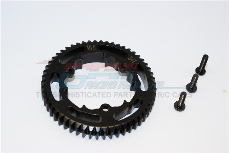 GPM Racing Steel Spur Gear (54t) - 1pc Black