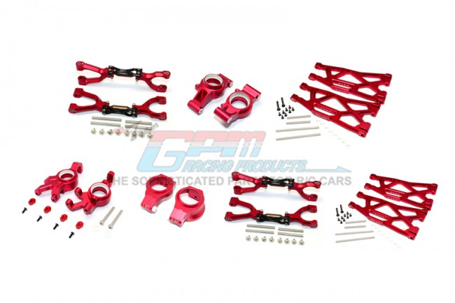 GPM Racing Alu Ft&rr Upr+lwr Arms+ft C Hubs+ft Knkl Arms Set Xmaxx(92)