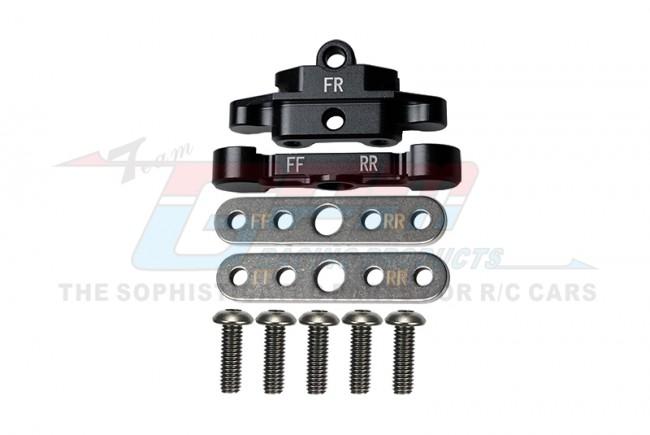 GPM Racing Aluminum Front Lower Arm Tie Bar Mount -9pc Set Black