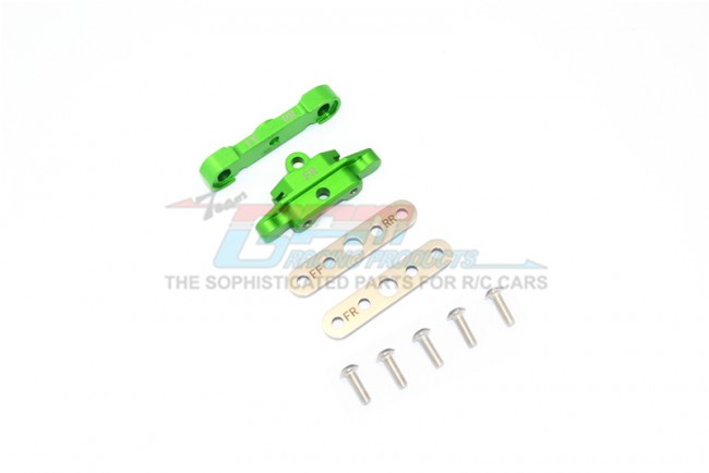 GPM Racing Aluminum Front Lower Arm Tie Bar Mount -9pc Set Green