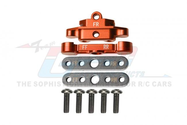 GPM Racing Aluminum Front Lower Arm Tie Bar Mount -9pc Set Orange