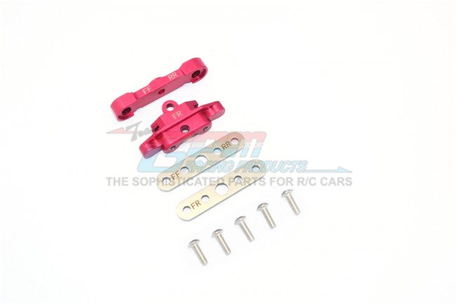 GPM Racing Aluminum Front Lower Arm Tie Bar Mount -9pc Set Red