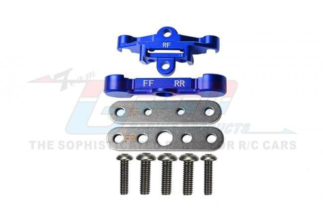 GPM Racing Aluminum Rear Lower Arm Tie Bar Mount -9pc Set Blue