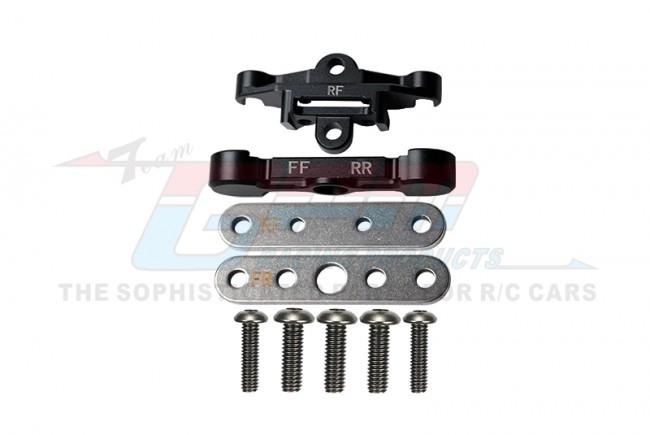 GPM Racing Aluminum Rear Lower Arm Tie Bar Mount -9pc Set Black