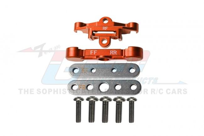 GPM Racing Aluminum Rear Lower Arm Tie Bar Mount -9pc Set Orange