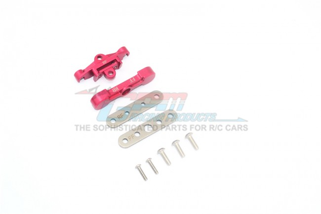 GPM Racing Aluminum Rear Lower Arm Tie Bar Mount -9pc Set Red