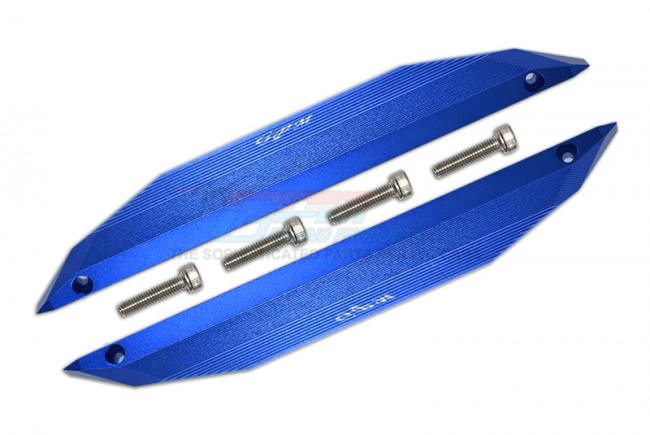 GPM Racing Aluminum Chassis Nerf Bars -6pc Set Blue