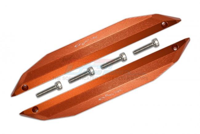 GPM Racing Aluminum Chassis Nerf Bars -6pc Set Orange