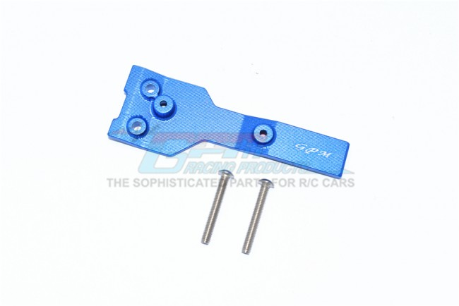 GPM Racing Aluminum Rear Chassis Link Protector -3pc Set Blue