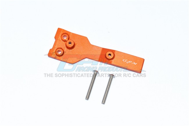 GPM Racing Aluminum Rear Chassis Link Protector -3pc Set Orange