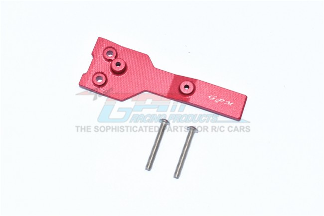 GPM Racing Aluminum Rear Chassis Link Protector -3pc Set Red