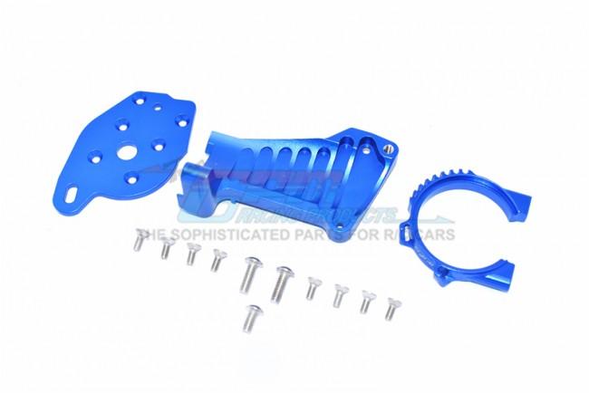 GPM Racing Aluminum Motor Mount -14pc Set Blue