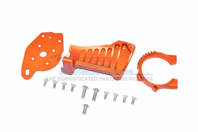 GPM Racing Aluminum Motor Mount -14pc Set Orange