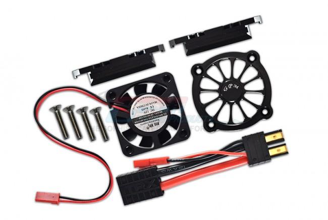 GPM Racing Aluminum Motor Heatsink With Cooling Fan -9pc Set Black