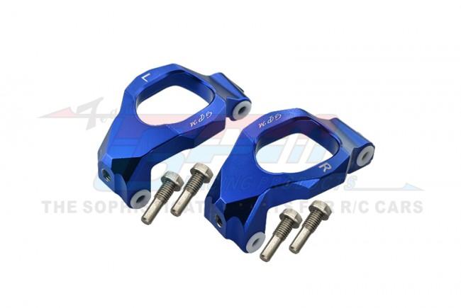 GPM Racing Aluminum Front C-hubs -6pc Set Blue