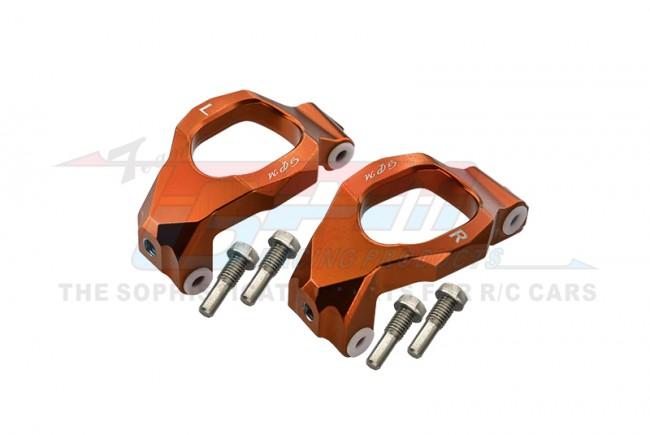 GPM Racing Aluminum Front C-hubs -6pc Set Orange