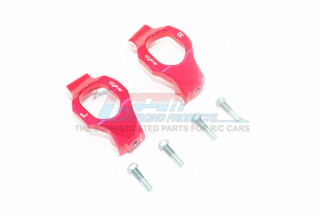 GPM Racing Aluminum Front C-hubs -6pc Set Red
