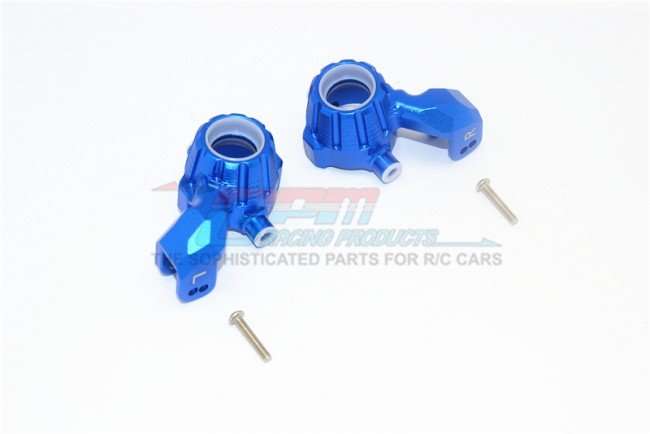 GPM Racing Aluminum Front Knuckle Arms -4pc Set Blue
