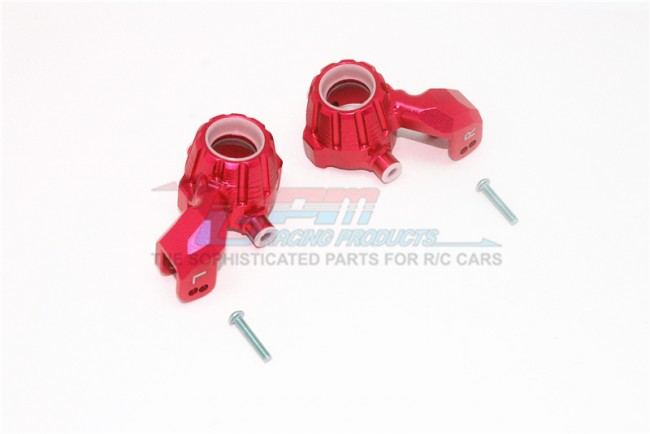 GPM Racing Aluminum Front Knuckle Arms -4pc Set Red