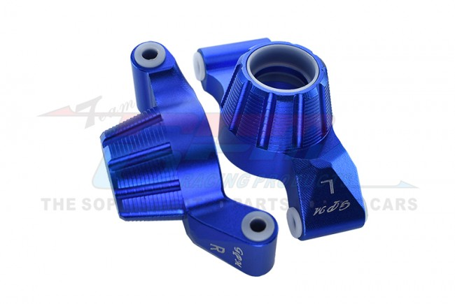 GPM Racing Aluminum Rear Knuckle Arm -2pc Set Blue