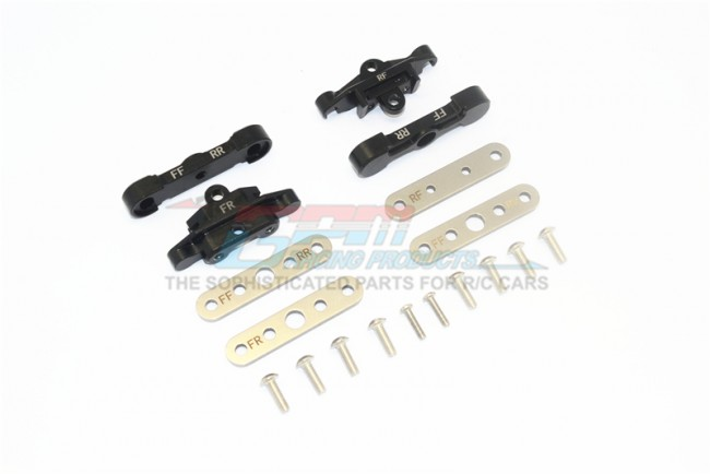 GPM Racing Aluminum Front+rear Lower Arm Tie Bar Mount -18pc Set