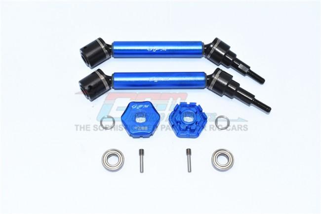 GPM Racing Hd Steel+alu F/r Adj Cvd Drive Shaft+hex Adapter (+2mm) (10)
