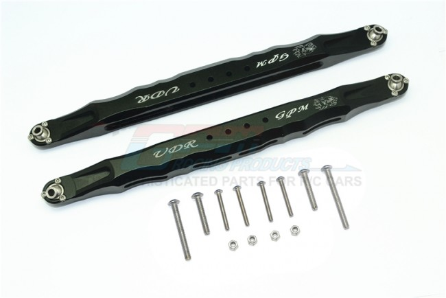 GPM Racing Alloy Rear Lower Trailing Arms -14pc Set Black