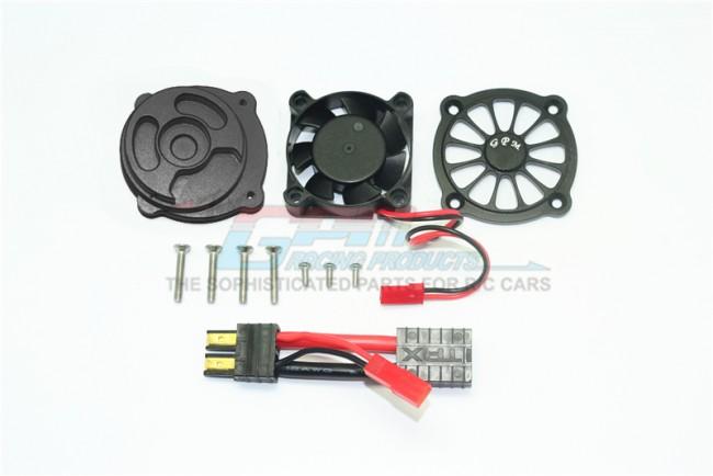 GPM Racing Aluminum Motor Heatsink With Cooling Fan -11pc Set Black