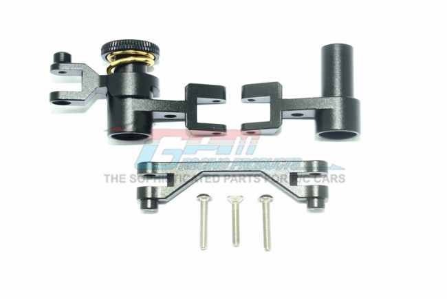 GPM Racing Aluminum Steering Assembly-6pc Set Black
