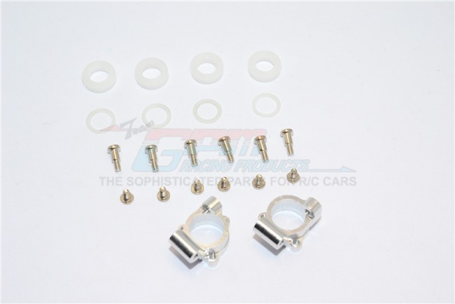 ALLOY REAR KNUCKLE ARM WITH DELRIN COLLARS & SCREWS - 1PR