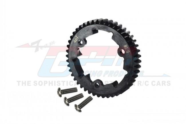 GPM Racing Steel Spur Gear 46t (M1.0) - 1pc Black