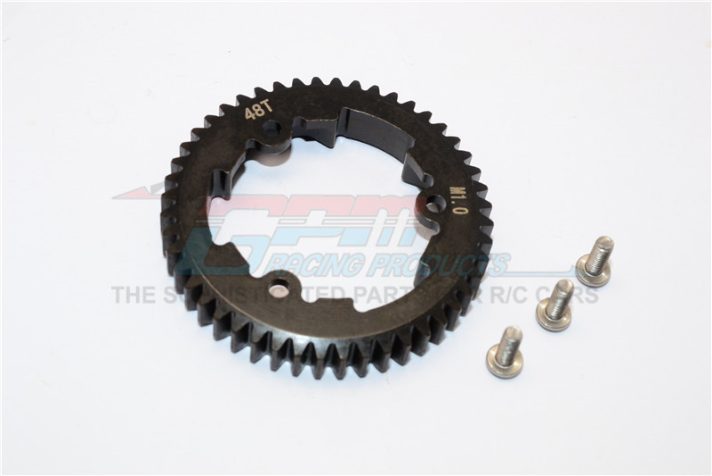 GPM Racing Steel Spur Gear 48t (M1.0) - 1pc Black