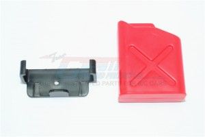 SCALE ACCESSORIES: PLASTIC OIL TANK FOR CRAWLERS (X DESIGN) -2PC SET - ZSP022A-R