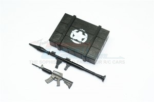 SCALE ACCESSORIES: WEAPON BOX+WEAPON FOR CRAWLERS (A) -3PC SET - ZSP023-OC
