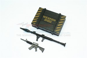 SCALE ACCESSORIES: WEAPON BOX+WEAPON FOR CRAWLERS (B) -3PC SET - ZSP024-OC